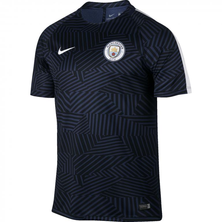 Maillot avant match Manchester City bleu 2016 - 2017