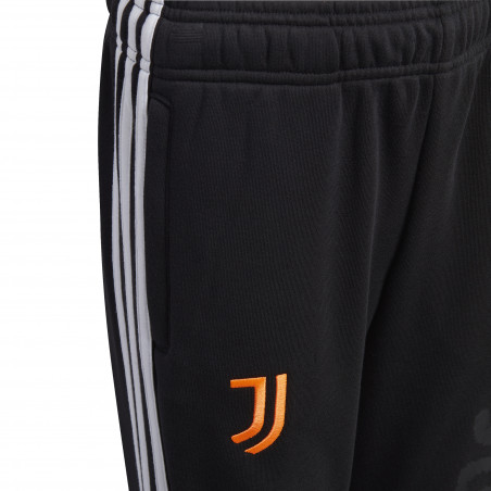 Pantalon survêtement junior Juventus molleton noir orange 2020/21