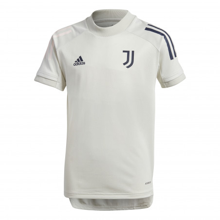Maillot entraînement junior Juventus blanc bleu 2020/21