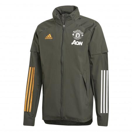 Coupe vent Manchester United vert orange 2020/21