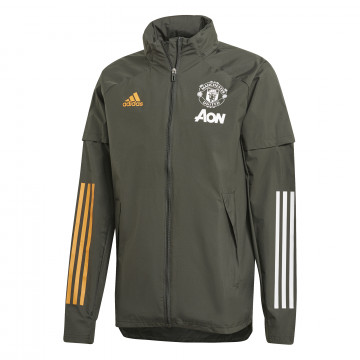 Coupe vent Manchester United vert orange 2020/21