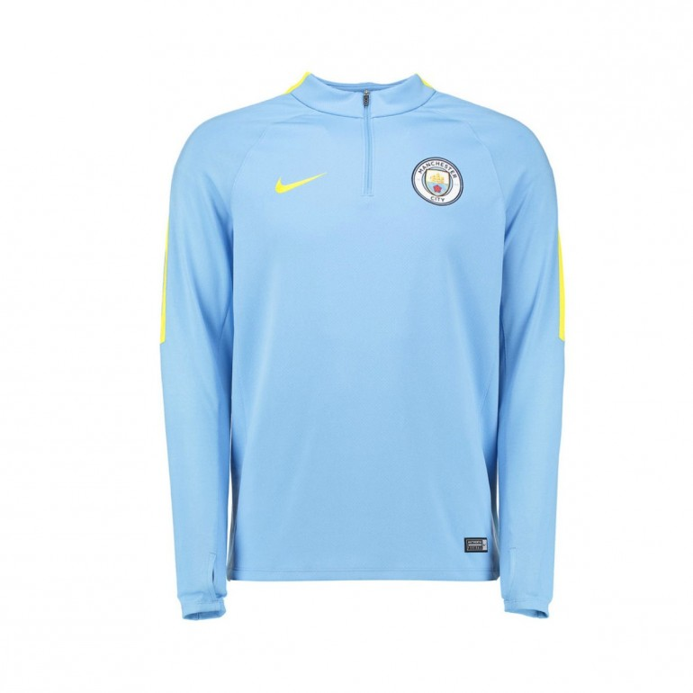 Sweat Zippé Manchester City bleu 2016 - 2017