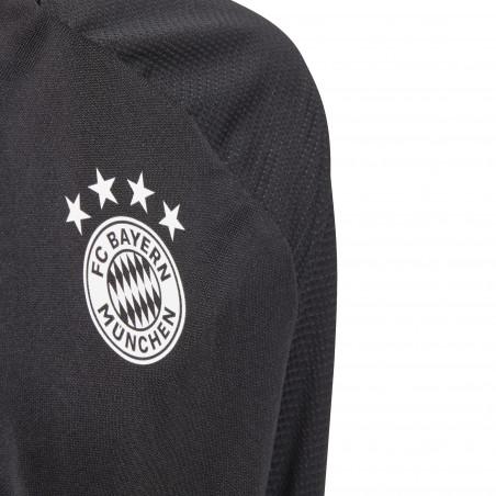 Sweat zippé junior Bayern Munich noir 2020/21