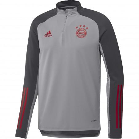 Sweat zippé Bayern Munich Europe gris rouge 2020/21