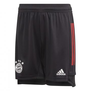 Short entraînement junior Bayern Munich noir rouge 2020/21
