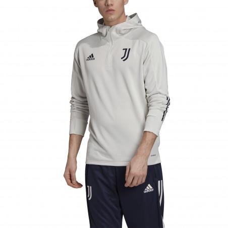 Sweat à capuche Juventus track blanc 2020/21