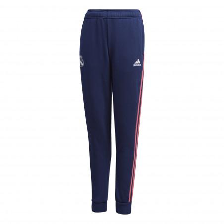 Pantalon survêtement junior Real Madrid molleton bleu rose 2020/21
