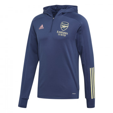 Sweat zippé à capuche Arsenal bleu 2020/21