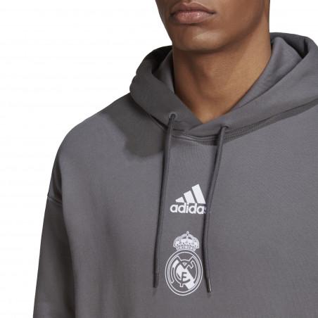Sweat à capuche Real Madrid gris 2020/21