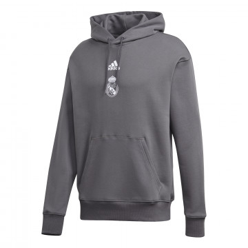 Sweat à capuche Real Madrid gris 2020/21