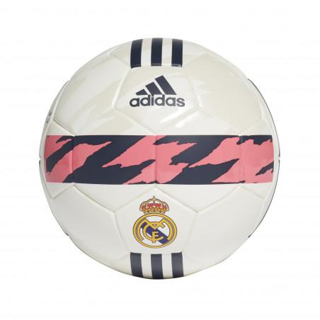 Mini ballon Real Madrid blanc rose 2020/21