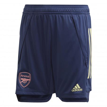 Short entraînement junior Arsenal bleu 2020/21
