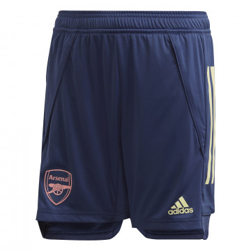 Short entraînement junior Arsenal bleu 2020/21