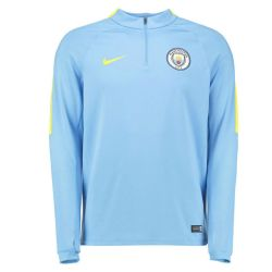 Sweat zippé junior Manchester City bleu 2016 - 2017