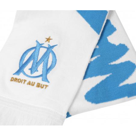 Echarpe OM blanc bleu 2020/21