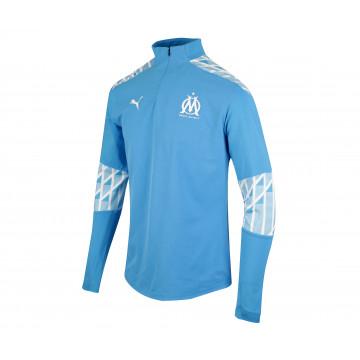 Sweat zippé OM bleu ciel 2020/21