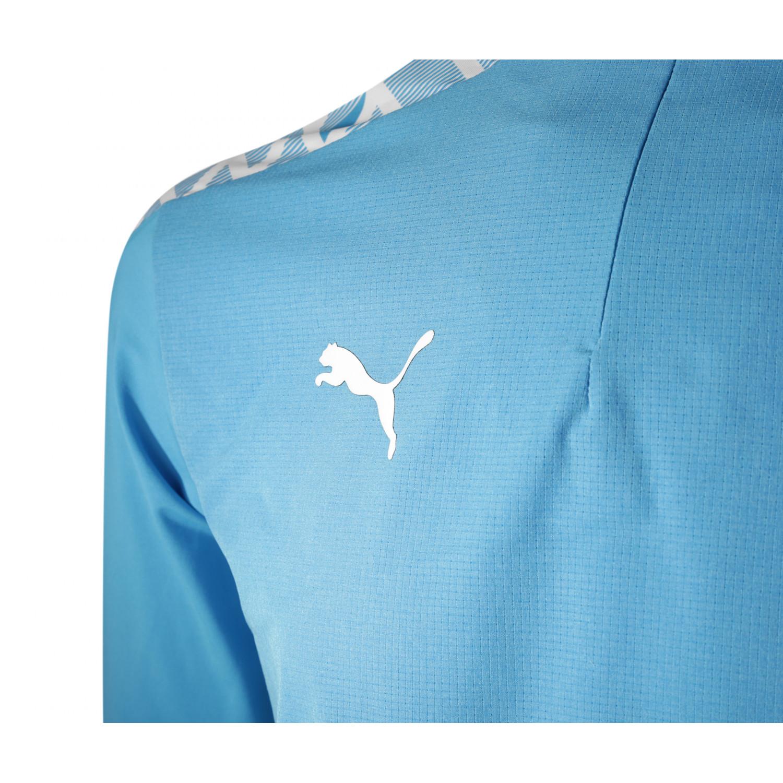 Sweat zippé OM bleu ciel 2020/21 sur Foot.