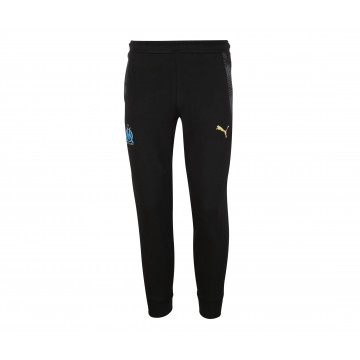 Pantalon survêtement junior OM molleton noir 2020/21