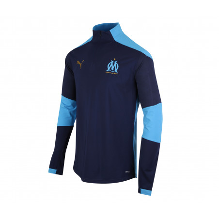 Sweat zippé OM bleu foncé 2020/21