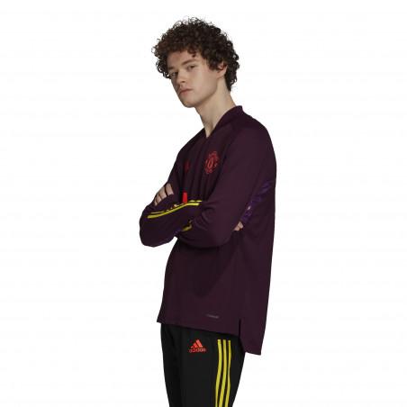 Sweat zippé Manchester United Europe violet 2020/21