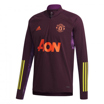 Sweat zippé Manchester United Europe violet 2020/21