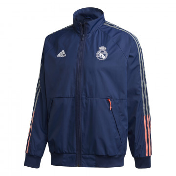 Veste survêtement Real Madrid Anthem bleu 2020/21