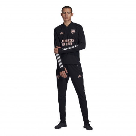 Sweat zippé Arsenal Europe noir rose 2020/21