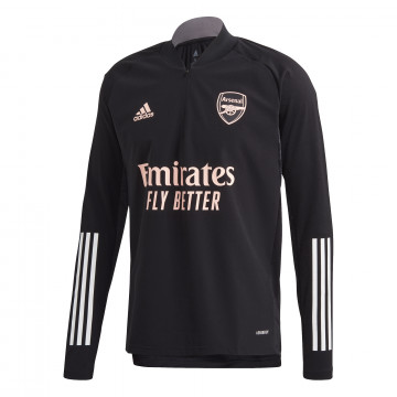 Sweat zippé Arsenal Europe noir rose 2020/21