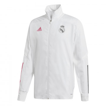 Veste entraînement Real Madrid blanc rose 2020/21