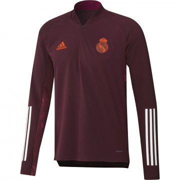 Sweat zippé Real Madrid Europe rouge 2020/21