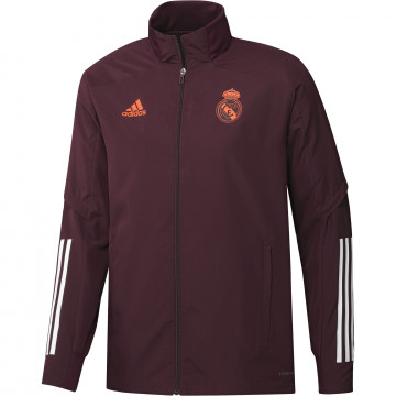 Veste entraînement Real Madrid rouge 2020/21