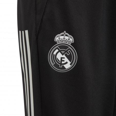 Pantalon survêtement junior Real Madrid noir rose 2020/21