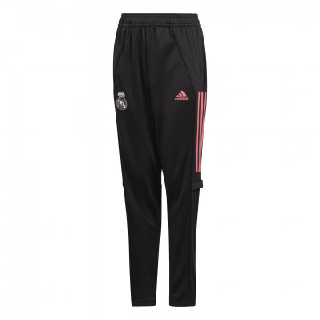 Pantalon survêtement junior Real Madrid noir rose 2020/21
