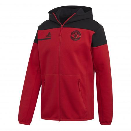 Veste survêtement Manchester United ZNE rouge noir 2020/21