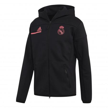Veste survêtement Real Madrid ZNE noir rose 2020/21