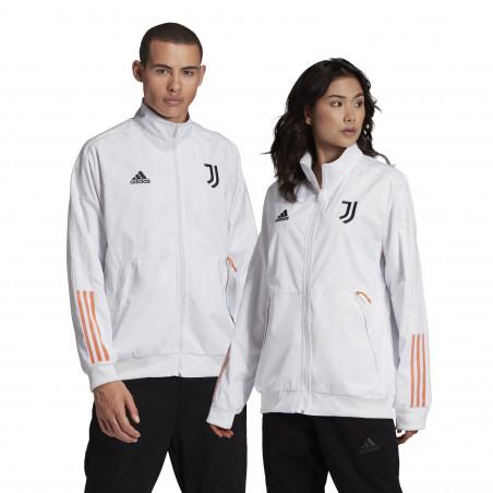 Veste survêtement Juventus Anthem blanc orange 2020/21