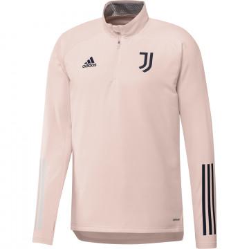 Sweat zippé col montant Juventus rose 2020/21