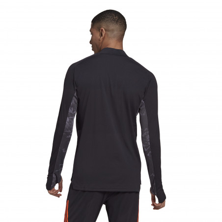 Sweat zippé Juventus noir orange 2020/21