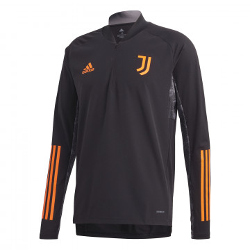 Sweat zippé Juventus noir orange 2020/21