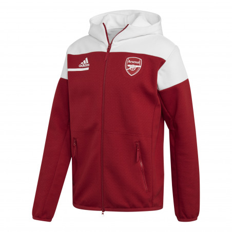 Veste survêtement Arsenal ZNE rouge blanc 2020/21