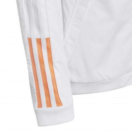 Veste survêtement junior Juventus Anthem blanc orange 2020/21