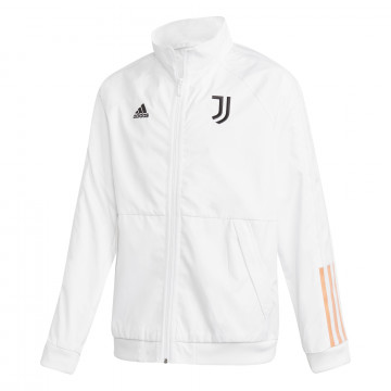 Veste survêtement junior Juventus Anthem blanc orange 2020/21