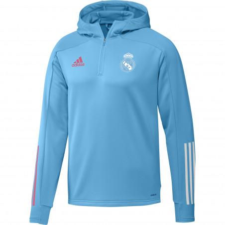Sweat à capuche Real Madrid bleu clair 2020/21