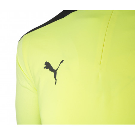 Sweat zippé OM jaune noir 2020/21