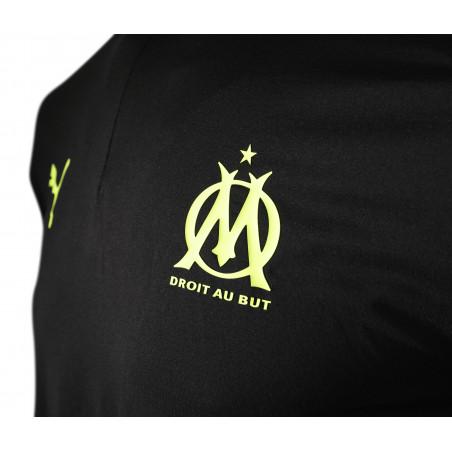 Sweat zippé OM noir jaune 2020/21