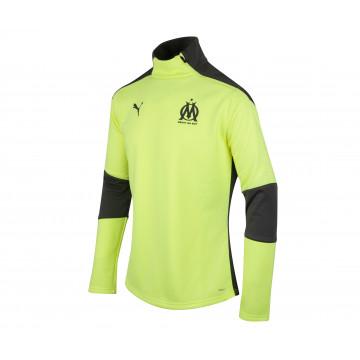 Sweat zippé OM Fleece jaune 2020/21