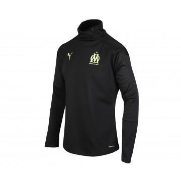 Sweat zippé OM Fleece noir jaune 2020/21