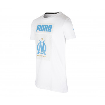 T-shirt junior OM blanc 2020/21