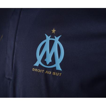Sweat zippé imperméable OM bleu 2020/21