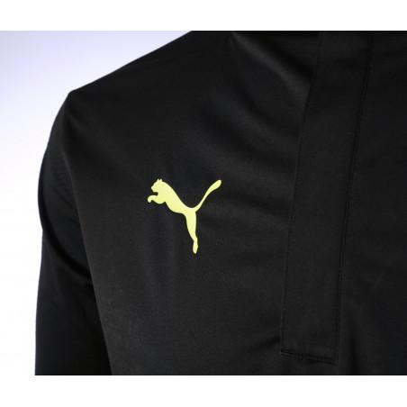 Sweat zippé imperméable OM noir jaune 2020/21